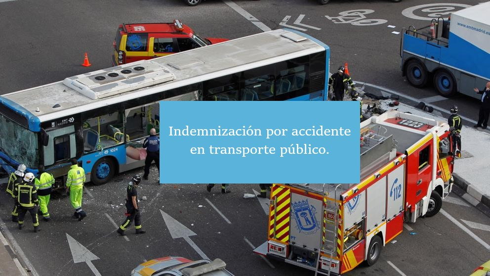 Indemnizacion accidente transporte publico